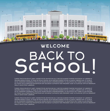 text space: Back to School Concept with copy space for text. Vector illustration