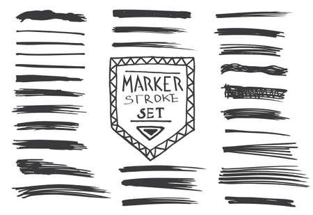 permanent: Permanent marker.  Marker stroke. Vector illustration Illustration