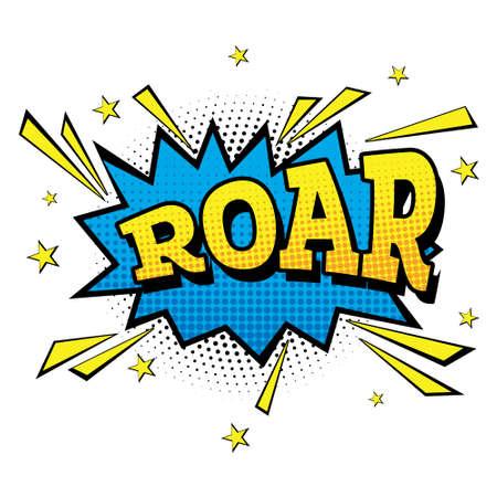 Roar. Comic Text in Pop Art Style. Vector Illustration.