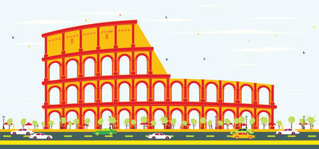 Colosseum in Rome. Vector Illustration. Illustration