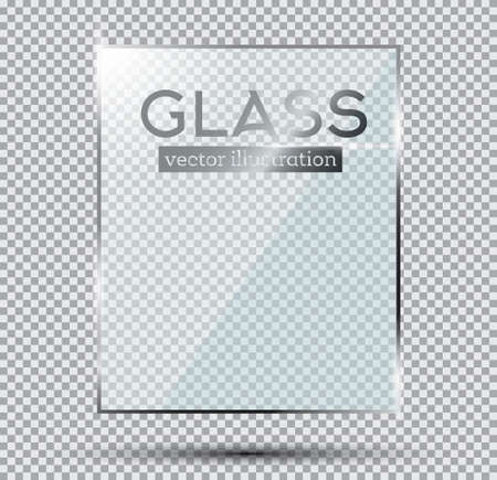 plate: Glass Plate Isolated On Transparent Background. Vector Illustration.