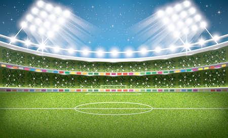 Soccer Stadium. Football Arena. Vector Illustration.