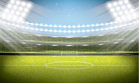 Soccer Stadium. Football Arena. Vector Illustration.