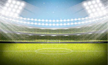 Voetbalstadion. Football Arena. Vector Illustratie.
