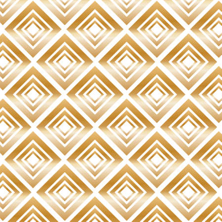 Gold Modern Pattern with Rhombuses. Illustration.
