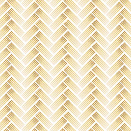 Golden Pattern with Chevron on White Background. Illustration.