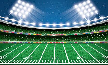 American Football Stadium. Arena. Vector Illustration.