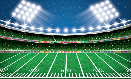 American Football Stadium. Arena. Vector Illustration. Reklamní fotografie - 72798215