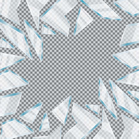 Broken Glass Window Ilustrace