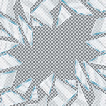 Broken Glass Window Illustration