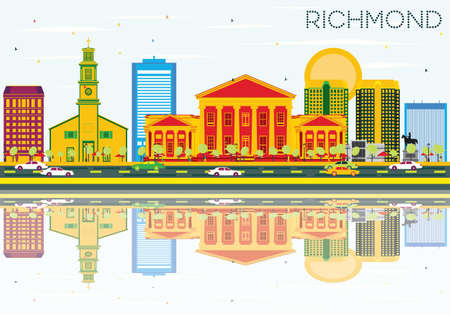Richmond skyline with colorful buildings.