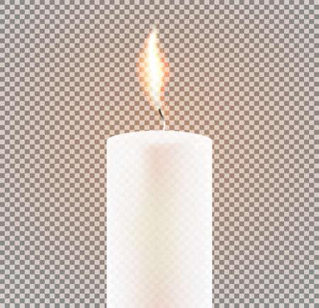Candle Flame on Transparent Background. Vector Illustration. 矢量图像