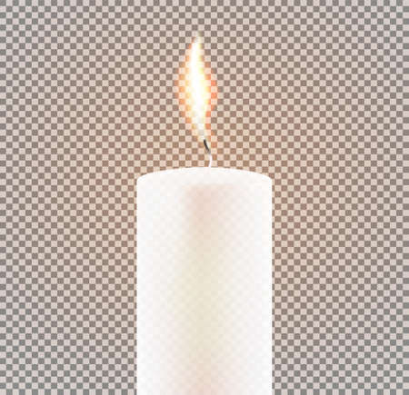 Candle Flame on Transparent Background. Vector Illustration. Illustration