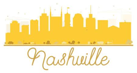 Nashville City skyline golden silhouette. Stock Vector - 76354982