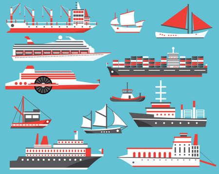 Shipping set illustration.