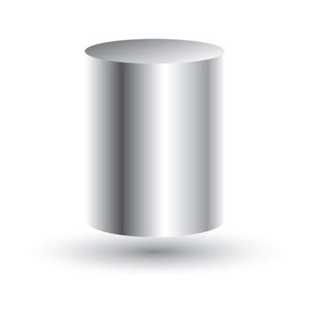 tin: White Cylinder Isolated on White Background. Vector Illustration. Illustration