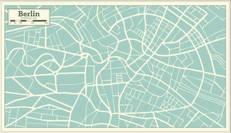 Berlin Germany Map In Retro Style Illustration Royalty Free
