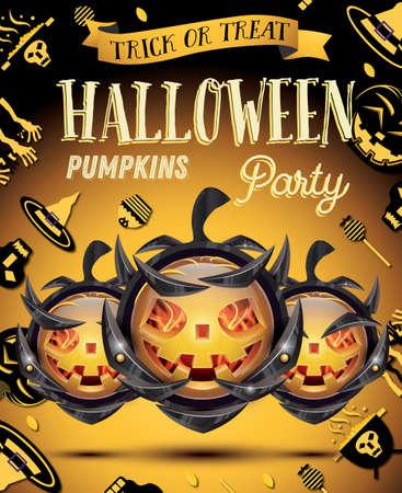Halloween pumpkin banner.