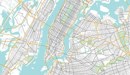 뉴욕시지도입니다. 일러스트