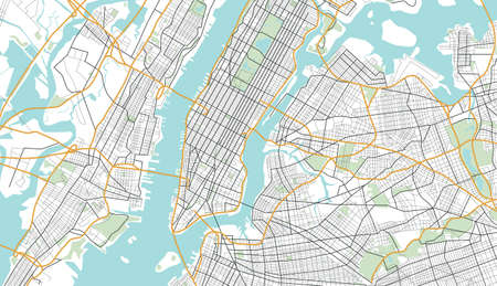 New York City Map.