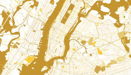 New York City Golden Map. Vector Illustration. 版權商用圖片 - 89109654
