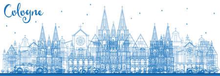 Cologne city illustration.