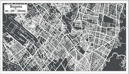 Bogota Colombia City Map in Retro Style. Outline Map. Vector Illustration. Illustration