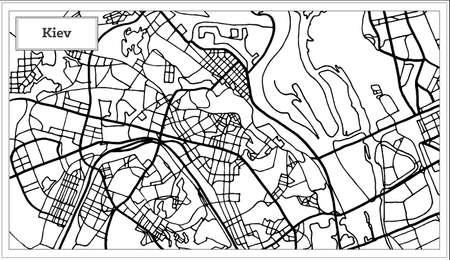 Cartina Muta Ucraina.Vettoriale Kiev Ucraina Mappa In Stile Retro Illustrazione Vettoriale Cartina Muta Image 91795768