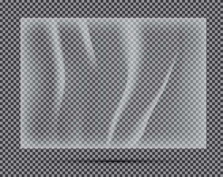 Transparent Light Polyethylene Banner. Vector Illustration.