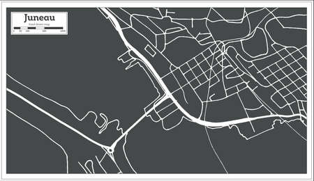 Seattle USA City Map In Retro Style Outline Map Royalty Free