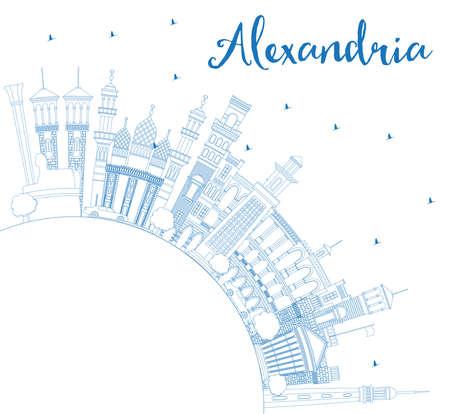 Outline Alexandria Egypt City