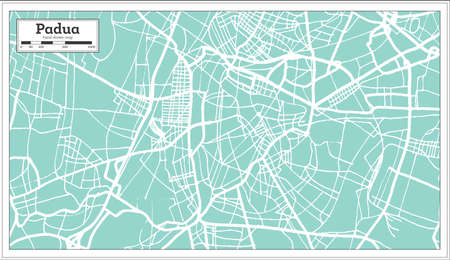 Padua Italy City Map in Retro Style. Outline Map. Vector Illustration. Illustration