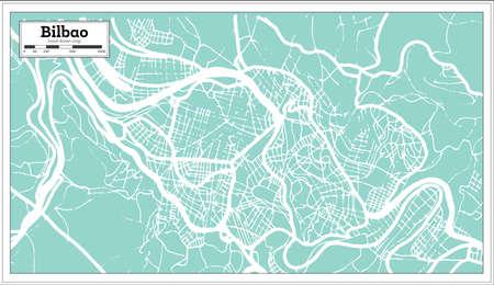 Bilbao Spain City Map in Retro Style. Outline Map. Vector Illustration. Illustration