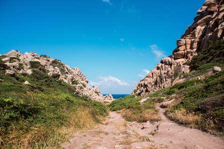 Landscape of Valley Of The Moon (Valle della Luna) Capo Testa, Sardinia, Italy.