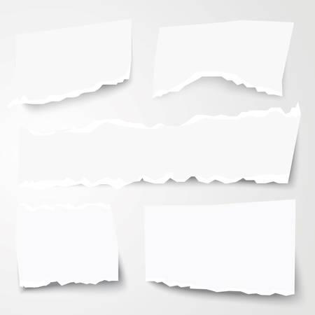Set of Different Torn Paper Shapes. Vector Illustration. Illustration