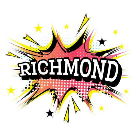 Richmond Comic Text in Pop Art Style. Vector Illustration.