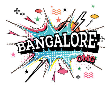 Bangalore Comic Text in Pop Art Style Isolated on White Background. Vector Illustration.