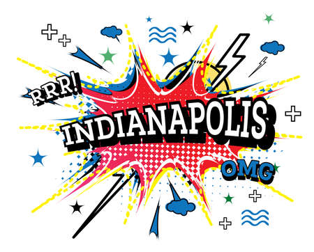 Indianapolis Comic Text in Pop Art Style Isolated on White Background. Vector Illustration.