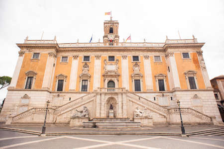 Palace of the Senators in Piazza del Campidoglio (Capitoline Square) on the Capitoline Hill, Rome, Italy.