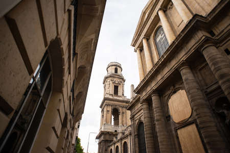 Fragment of Saint-Sulpice Church in Paris. France. View from Backside.