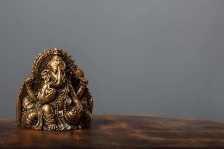 Ganesha on gray background