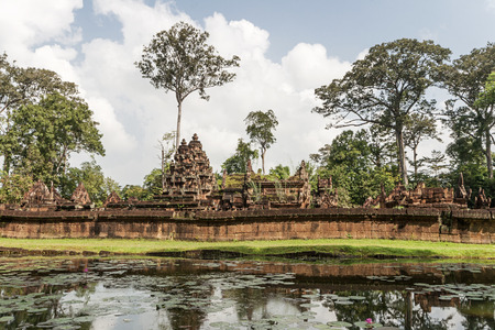 hindu god shiva: Banteay Srei is a 10th-century Cambodian temple dedicated to the Hindu god Shiva  Located in the area of Angkor in Cambodia  It lies near the hill of Phnom Dei, 25 km north-east of the main group of temples that once belonged to the medieval capitals of Y
