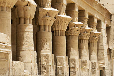 Columns At Philae Temple, Aswan, Egypt photo