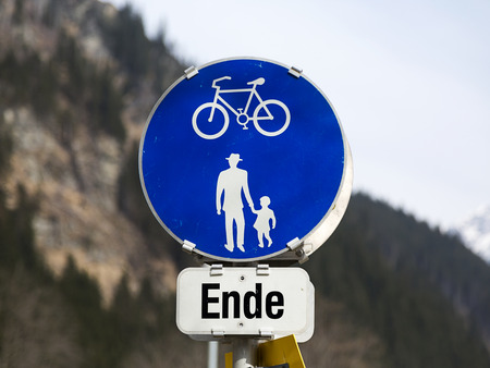 bicycle lane: End of Bicycle Lane