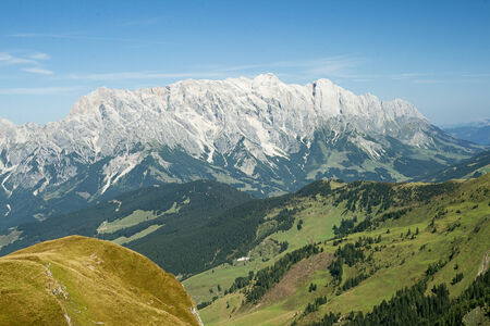 saalfelden: A view towards the Hochkonig in the Austrian Alps Stock Photo