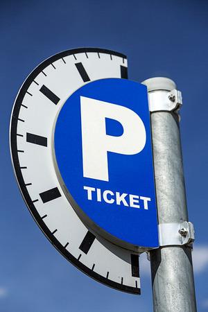 parking ticket: Parking Ticket Sign