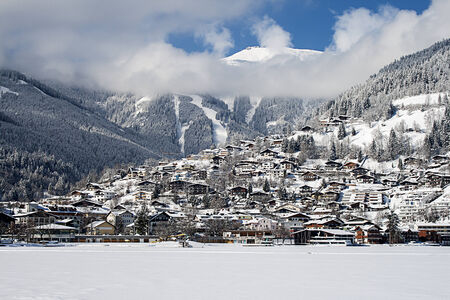 Zell Am See in Winter looking towards the ski area on the Schmittenhohe photo