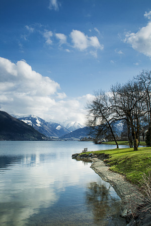 zell am see: Looking over Zeller See, Zell Am See, Austria