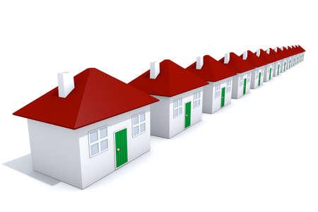 row houses: Row of houses