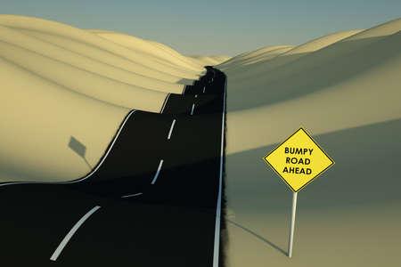 Bumpy road Stock Photo